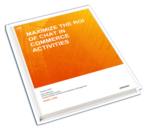 Aberdeen Research Report: Maximize the ROI of Chat in Commerce