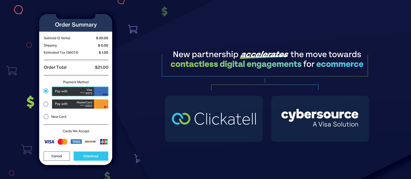 """Clickatell and Visa's Cybersource Deliver """"Chat 2 Pay"""" Contactless Checkout  In Store and In Chat to Businesses Worldwide"""
